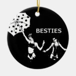 Besties Best Friends on the Beach Christmas Ornament