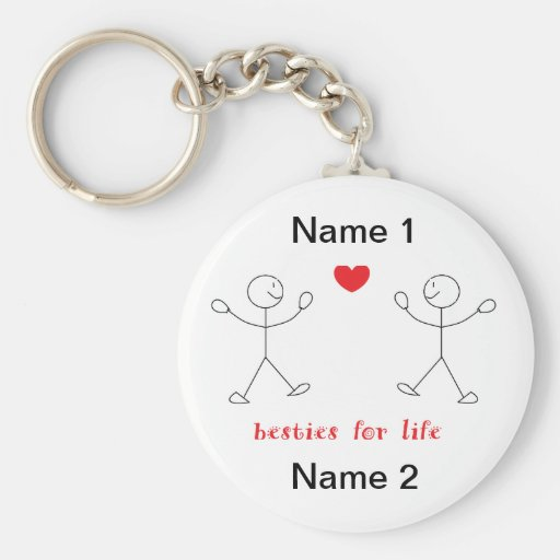 Besties For Life Keychain
