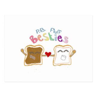 Besties peanut butter and fluff Postcard