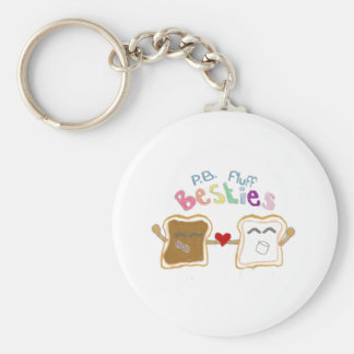 besties peanut butter fluff keychain key chain