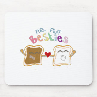besties peanut butter fluff mouse pad
