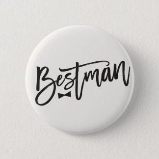 Bestman Brush Bow Tie Wedding Bridal Party Button