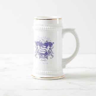 BestMan Wedding Stein  Vintage Lions 2 Heads 18 Oz Beer Stein