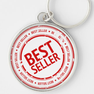 Bestseller Stamp Silver-Colored Round Keychain