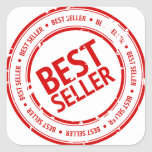 Bestseller Stamp Square Stickers