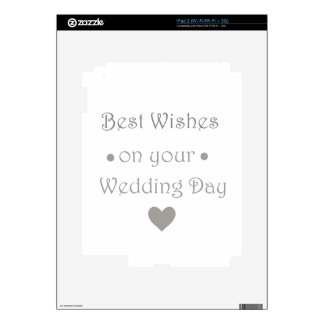 Bestwishes wedding day decals for the iPad 2