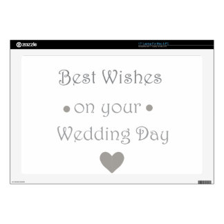 Bestwishes wedding day laptop decal