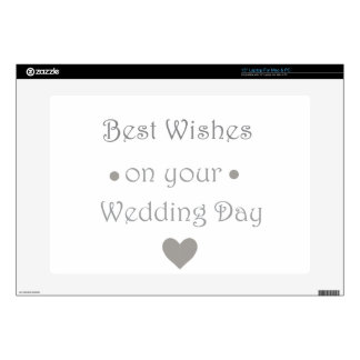 Bestwishes wedding day laptop skin