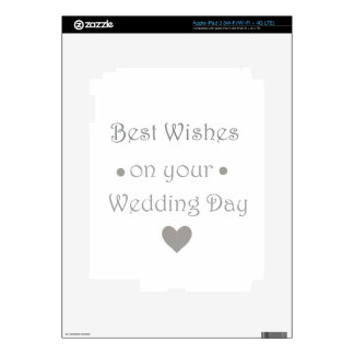 Bestwishes wedding day skins for iPad 3