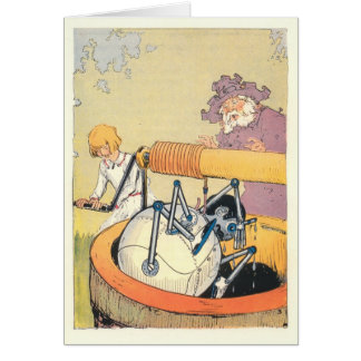 Besty Bobbin and The Shaggy Man rescue Tik-Tok Greeting Card
