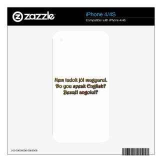 Beszél angolul?  Do you speak English? Decals For iPhone 4