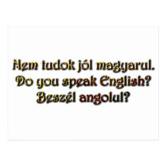 Beszél angolul?  Do you speak English? Postcard