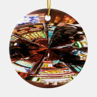 Bet On It Double-Sided Ceramic Round Christmas Ornament