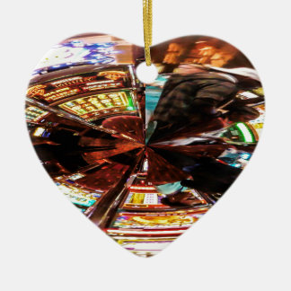 Bet On It Double-Sided Heart Ceramic Christmas Ornament