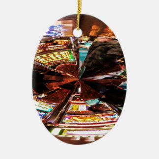 Bet On It Double-Sided Oval Ceramic Christmas Ornament