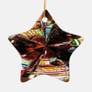 Bet On It Double-Sided Star Ceramic Christmas Ornament