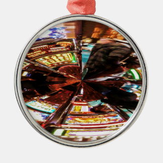 Bet On It Round Metal Christmas Ornament