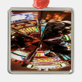 Bet On It Square Metal Christmas Ornament