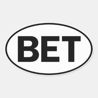 BET Oval ID Oval Sticker