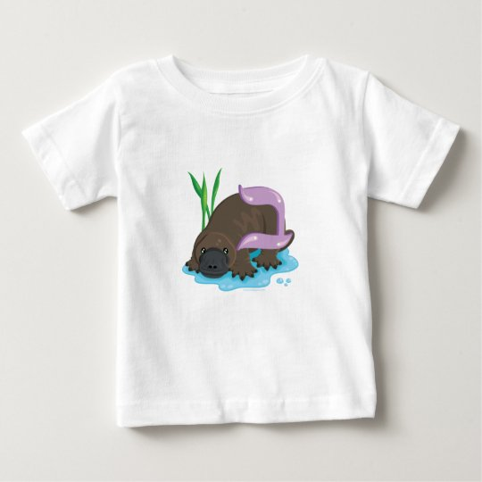 Bet the Platypus, Hebrew Aleph Bet (Alphabet) Baby T-Shirt