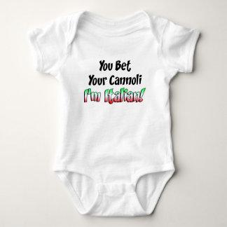 Bet Your Cannoli Italian Baby Bodysuit