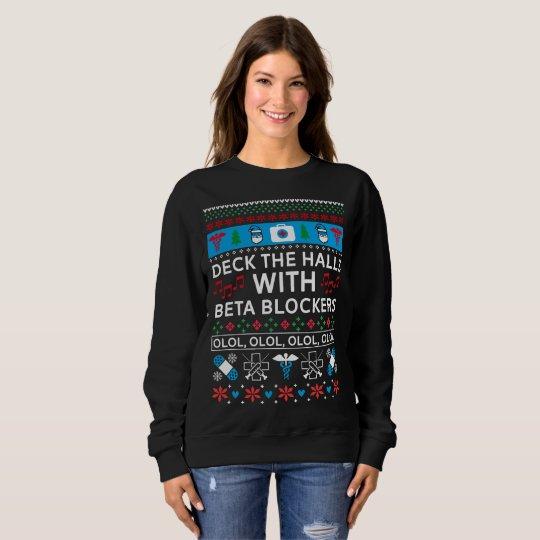Nurse Christmas Sweater.Beta Blockers Nurse Ugly Christmas Sweater