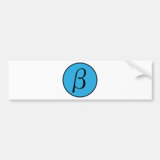 Beta Car Bumper Sticker