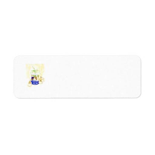 Beta Cat Custom Return Address Labels