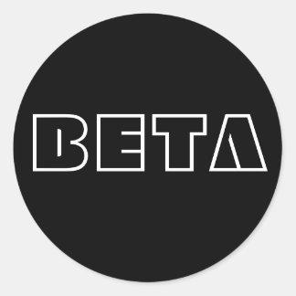 BETA CLASSIC ROUND STICKER
