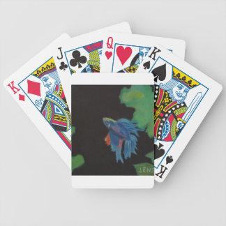 beta fish bicycle playing cards