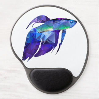 Beta Fish for Polygon Mosaic Blue Gel Mouse Pad