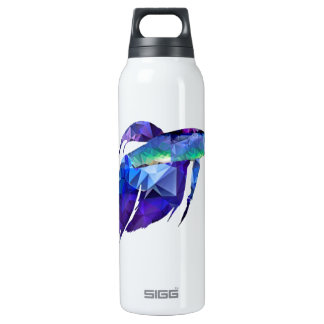 Beta Fish for Polygon Mosaic Blue Insulated Water Bottle