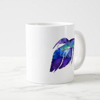 Beta Fish for Polygon Mosaic Blue Jumbo Mug