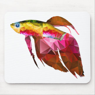 Beta Fish for Polygon Mosaic Pink Mouse Pad