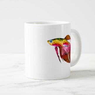 Beta Fish for Polygon Mosaic Pink Extra Large Mugs