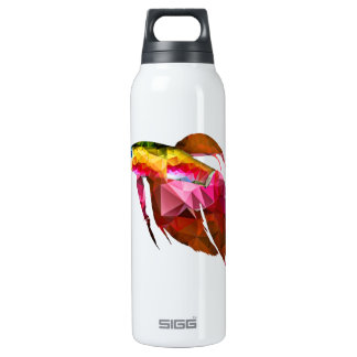 Beta Fish for Polygon Mosaic Pink Thermos Bottle