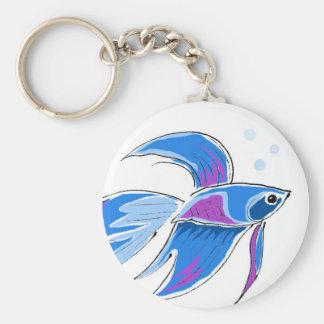 Beta fish Keychain