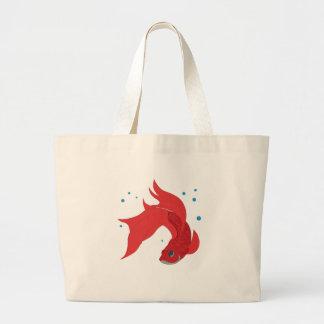 Beta Fish Large Tote Bag