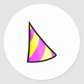 Beta Hat Classic Round Sticker