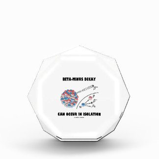 Beta-Minus Decay Can Occur In Isolation (Physics) Acrylic Award