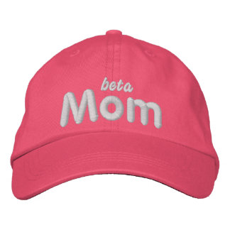 Beta Mom lt blu hat