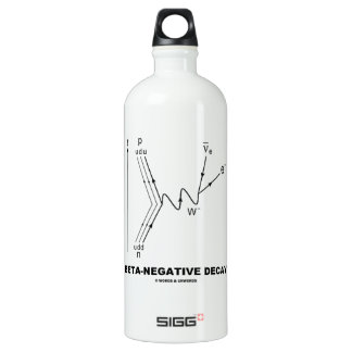 Beta-Negative Decay (Quantum Physics) Water Bottle