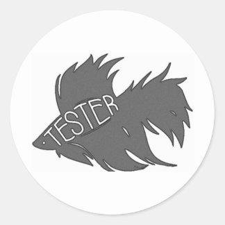 Beta Tester Classic Round Sticker