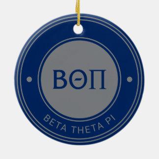 Beta Theta Pi | Badge Ceramic Ornament
