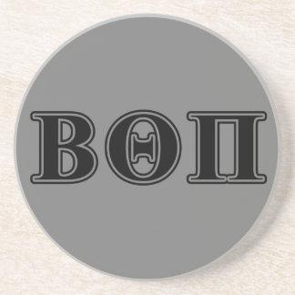 Beta Theta Pi Black Letters Coaster