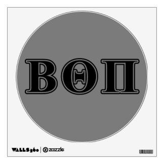 Beta Theta Pi Black Letters Wall Skins