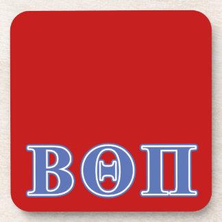 Beta Theta Pi Blue Letters Beverage Coaster