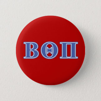 Beta Theta Pi Blue Letters Pinback Button