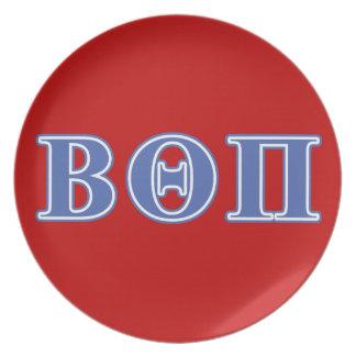 Beta Theta Pi Blue Letters Plates