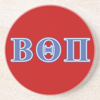 Beta Theta Pi Blue Letters Sandstone Coaster